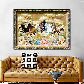 Tranh treo tường trang trí phòng khách, phòng ngủ, phòng ăn Tranh ngựa Mã Đáo Thành Công - Bát mã truy phong:1325L8