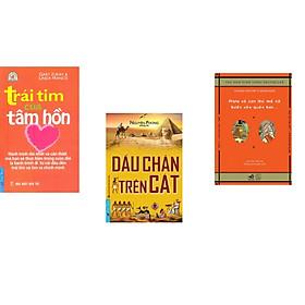 Combo 3 cuốn sách:  Trái Tim Của Tâm Hồn + Dấu Chân Trên Cát + Plato và con thú mỏ vịt bước vào quán bar (Tái Bản)
