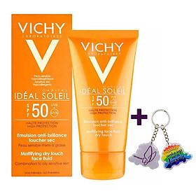 Kem Chống Nắng Không Gây Nhờn Rít VICHY Ideal Soleil Dry Touch (50ml) - TẶNG MÓC KHÓA