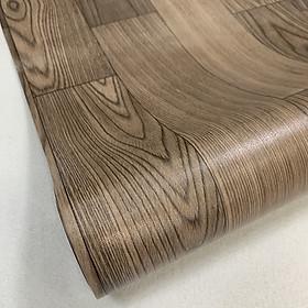 Thảm lót sàn simili vân gỗ nhám màu nâu đen
