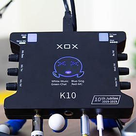 Soundcard Livestream XOX K10 10th phiên bản Tiếng Anh - Hàng chính hãng