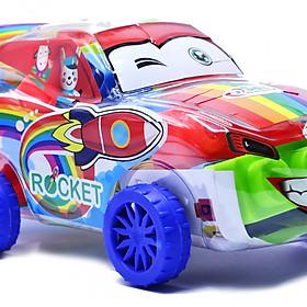 Ô tô xếp hình siêu xe Rocket Sato sáng tạo cho bé