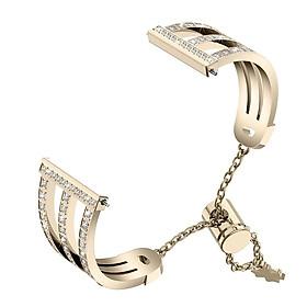 Metal Watch Strap Treble Diamante Strap for Fitbit versa 2