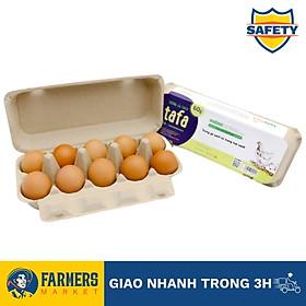 Trứng gà sạch Tafa size 60g/trứng (Hộp 10 trứng 600G) - Đảm bảo 100% trứng gà sạch.