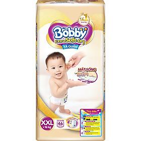 Tã Quần Siêu Mềm Bobby Extra Soft Dry Gói Siêu Lớn XXL-46 Miếng (>16kg)