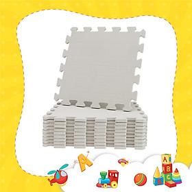 Thảm xốp lót sàn cho bé - dơn màu pastel GHI XÁM (32x32x1cm/10 miếng, diện tích ~ 1m2)_KHÔNG MÙI TIÊU CHUẨN NHẬT BẢN