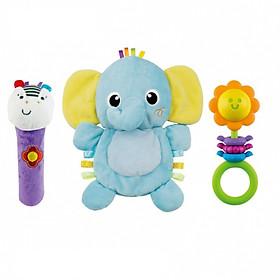 Set 3 đồ chơi cầm tay xúc xắc chíp chíp, gặm nướu Winfun tặng xe trượt đà cho bé VBCare-123-6 (ngẫu nhiên)