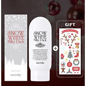 [Xmas Edition] Kem tắm trắng da mặt và toàn thân Secret Key Snow White Milky Pack 200g + Tặng Kèm 1 Miếng Dán Sticker Phiên Bản Noel