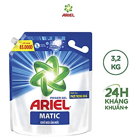 Nước Giặt Ariel Khử Mùi Ẩm Mốc Túi 3.2kg