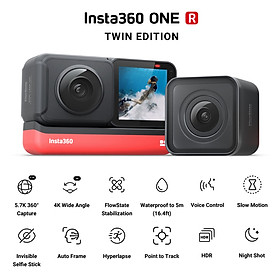Insta360 ONE R Twin Edition Dual Lenses Anti-shake  Sports Action Camera (5.7K 360° Panorama Lens + 4K Wide Angle Lens)