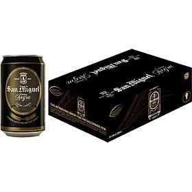 Thùng 24 Lon Bia Đen San Miguel Cerveza Negra Lon 330ml