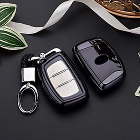 Ốp, bọc chìa khóa silicon màu tráng gương bảo vệ chìa khóa cho xe Hyundai i10, Elantra, Tucson, Santafe 2016-2018…kèm móc đeo INOX