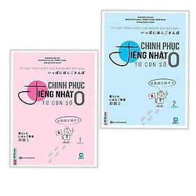 Bộ Sách Học Tiếng Nhật Cho Người Mới Bắt Đầu: Chinh Phục Tiếng Nhật Từ Con Số 0 - Trọn Bộ 2 Tập (Tặng Video Dạy Đọc Và Viết Bảng Chữ Cái Hiragana và Katakana)