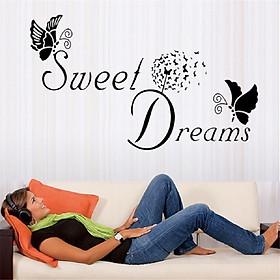 Decal dán tường chữ trang trí lãng mạn SWEET DREAMS