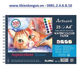 Sổ vẽ lò xo màu nước Artwork A4 - 300GSM 25 tờ; Klong 782 mẫu 3
