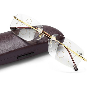 Progressive Multifocus Anti-blue Reading Glasses Anti Glare Blue Light Blocking Eyeglasses Eyewear