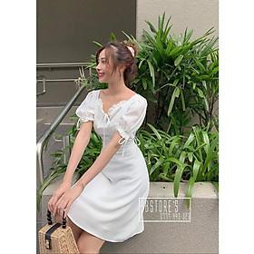 Váy nữ, Đầm dự tiệc-Thắt Nơ Dễ Thương Thời Trang Thời Trang Dự Tiệc Dạo Phố ( có mút ngực )