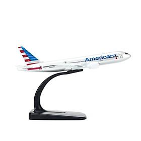 Mô hình máy bay American Airlines (16cm) - Bạc, Xanh dương đậm, Đỏ
