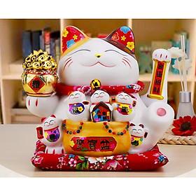6 Mẫu Mèo Thần Tài Siêu To Siêu Khổng Lồ 30CM~33CM + Tặng Kèm Pin & Hộp Quà Sang Trọng