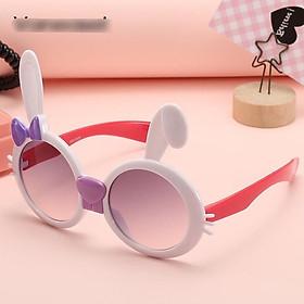 Kính trẻ em kính mát hình tai thỏ đeo nơ HQ cho bé trai, bé gái bảo vệ mắt chống tia UV - 2105.10 CS19