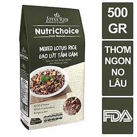 Gạo lứt hỗn hợp/ Nutrichoice Tấm Cám 500gr - Ngon miệng dễ nấu - Dưỡng chất toàn diện, rất tốt sức khỏe