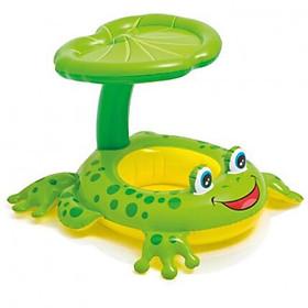 Phao bơi ếch xanh có mái che cho bé từ 2 đến 6 tuổi kèm bơm