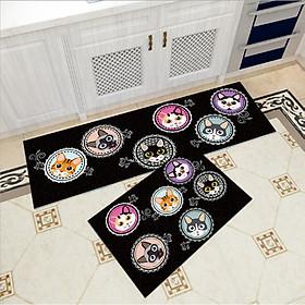 Bộ 2 thảm trang trí, thảm bếp cao cấp GOO17 (40x60 cm và 40x120 cm)