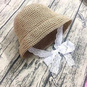 Mũ Cói Bánh Bèo Cho Bé Yêu Tặng Kèm Bộ Đồ Chơi Đất Nặn