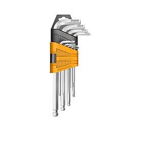 Bộ 9 chìa lục giác đầu tròn Ingco HHK12091
