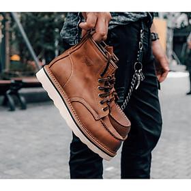 Giày cao cổ nam da bò sáp redwing moctoe boots
