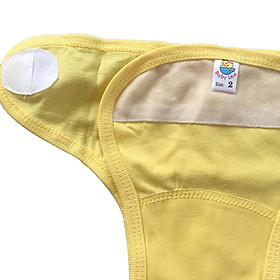 Combo 5 tả vải, tả dán cotton mềm, mịn cho bé sơ sinh Thái Hà Thịnh ( tặng kèm 1 đôi tất sơ sinh amigo như hình)-2