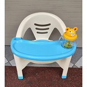 Ghế ăn dặm có nhạc - tặng kèm bình nước Thỏ cho bé và  một khẩu trang vải 3 lớp cotton ( màu ngẫu nhiên)