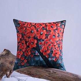 Gối Tựa Lưng Gối Sofa In Cây Hoa 3D PA9253