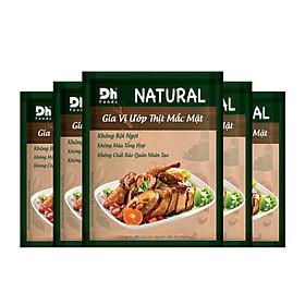 Combo 5 gói Natural Gia vị Ướp Thịt Mắc Mật Dh Foods