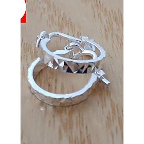 Bông tai nữ Bạc Quang Thản, khuyên tai nữ chữ đơn giản 100% chất liệu bạc thật không xi mạ, kiểu khóa đeo sát tai, thiết kế đơn giản phù hợp đeo cho cả trẻ em và người lớn – QTBT16