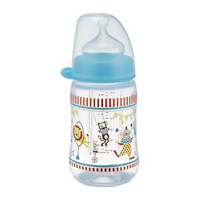 Bình sữa cổ rông 260ml Nip núm ti silicon chỉnh nha,chống sặc,cỡ quốc tế 0+ dòng chảy vừa ( Họa tiết ngẫu nhiên)