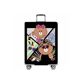 Túi bọc vali vài thun co giãn 4 chiều hoạ tiết Độc Đáo + Tặng kèm túi đựng giầy