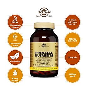 NHẬP KHẨU USA CHÍNH HÃNG - VIÊN UỐNG DÀNH CHO PHỤ NỮ MANG THAI Thực phẩm bảo vệ sức khỏe PRENATAL NUTRIENTS - 120 VIÊN