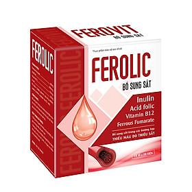Thực phẩm chức năng Viên uống FEROLIC bổ sung Sắt, Acid folic, Vitamin B12 không gây táo bón (100 viên nang mềm)