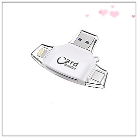 4-in 1 Type-c Card Reader Flash Drive Usb Micro Sd Otg Tf Memory Card Reader