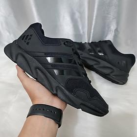 Giày Thể Thao Nam Nữ, Chạy Bộ, Tập Gym Màu Đen Đê Đen