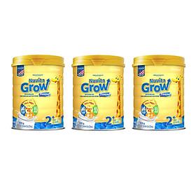 Bộ 3 Lon Sữa Nuvita Grow Diamond 2+ 900g (trẻ từ 2 tuổi trở lên)