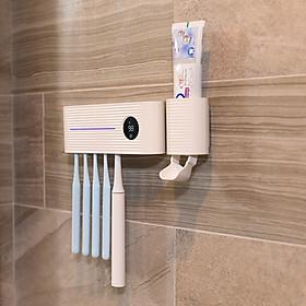 Xiaomi YouPin Sothing Máy tiệt trùng bàn chải đánh răng bằng tia cực tím thông minh, Bộ sạc USB trong phòng tắm, Giá treo bàn chải đánh răng treo tường đục lỗ