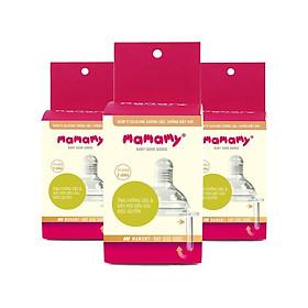Combo 3 hộp Núm ti Chống Sặc Và Chống Đầy Hơi Cho Bé Mamamy size S,M,L