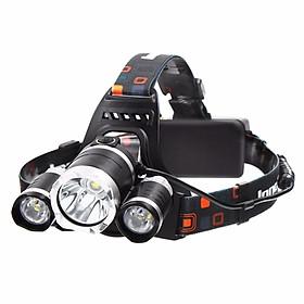 Đèn Pin Đội Đầu 3 Bóng  dùng pin sạc siêu sáng