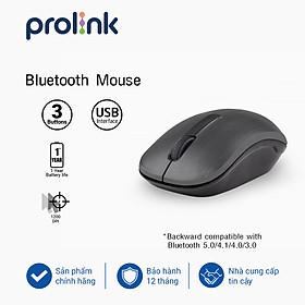 Chuột không dây Prolink PMW5010 kết nối đầu thu 2,4 GHz, thiết kế Ambidextrous (đối xứng) phù hợp với người thuận tay trái lẫn tay phải, dùng cho Laptop, Notebook, PC và Mac - Hàng chính hãng