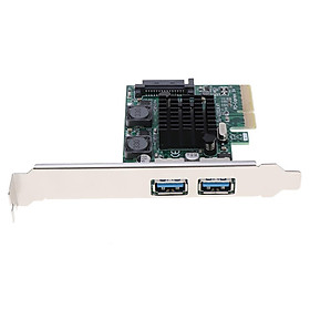 Superspeed 2 Ports PCI-E to USB 3.0 Expansion Card PCI  for PC Host