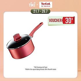 Quánh chống dính đáy từ Tefal So Chef G1352395 18cm có nắp (Đỏ) - Hàng chính hãng