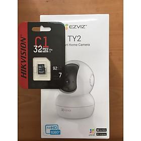 Camera IP Wifi Ezviz TY2 + Thẻ nhớ 32GB - Hàng Chính Hãng