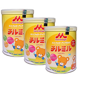 3 Hộp Sữa Bột Morinaga Chilmil Số 2 (850g) Dành cho trẻ từ 6 -36 tháng tuổi